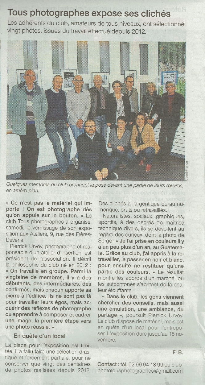 ouest france 26 10 2015